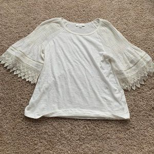 anthropologie eri & ali crochet top